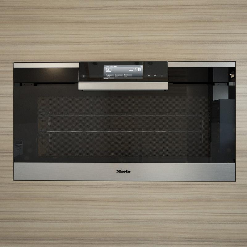 kitchen appliances miele 90 3d model