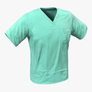 surgeon dress 20 modeled 3d 3ds