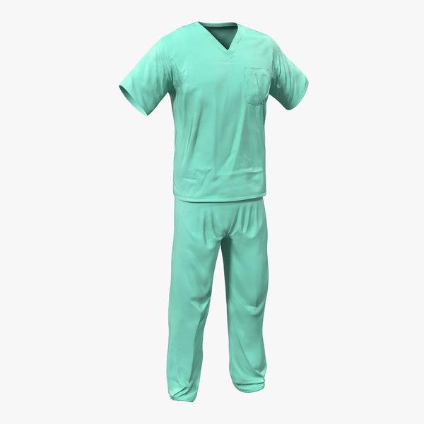 surgeon dress 19 modeled 3d model