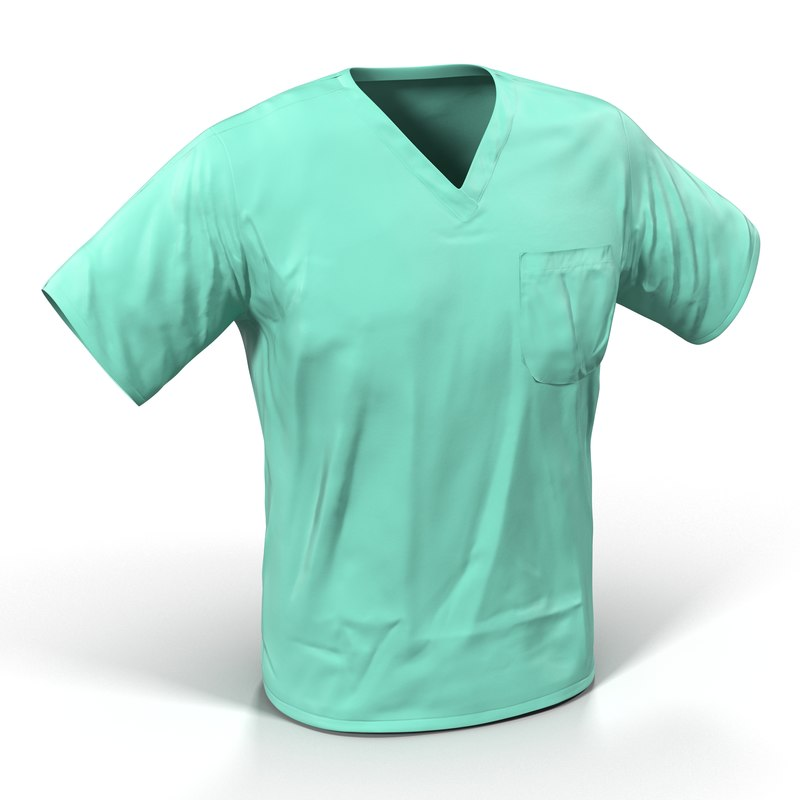 surgeon dress 20 modeled 3d 3ds