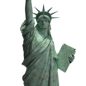 statue liberty 3d max