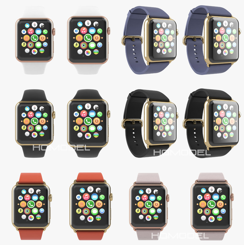 apple watch edition gold 3d obj