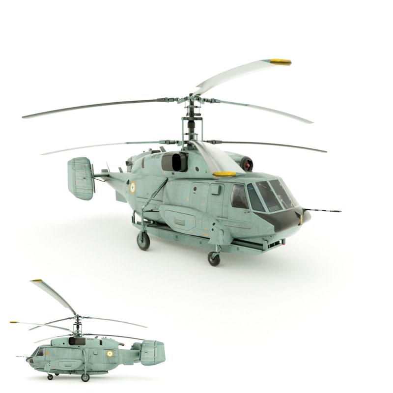 3d military helicopter ka-31 model