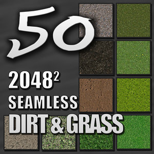 50 Grass and Dirt Seamless Tileable Textures