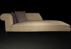 sofa modern josephine 3d obj