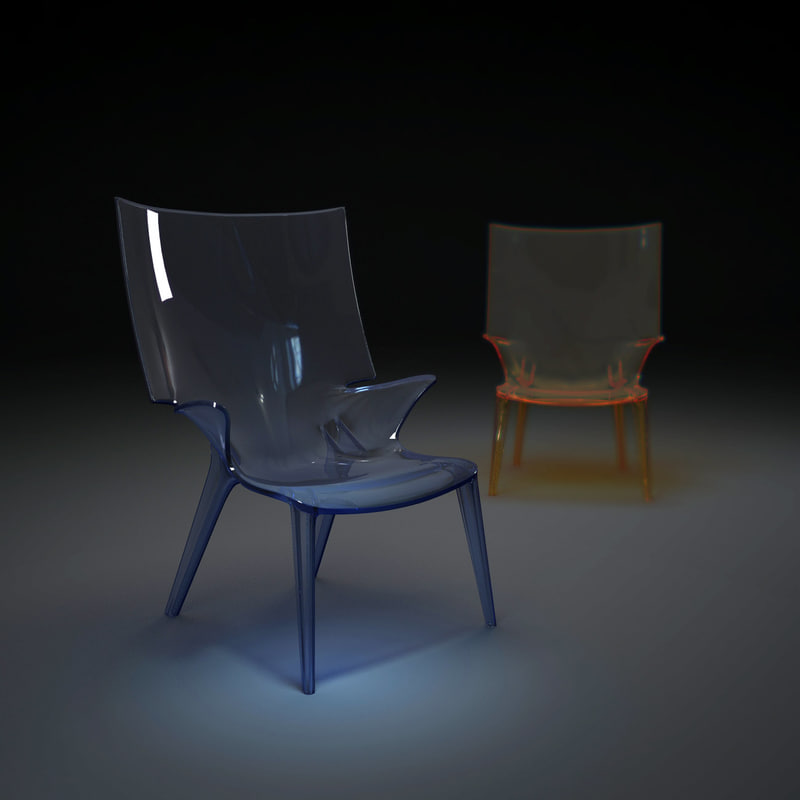 3d model uncle-jim-chair