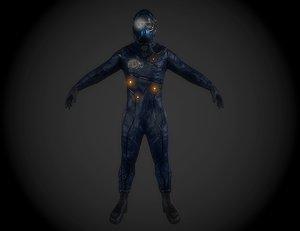 sci fi pilot helmet 3ds