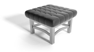 3ds max ottoman leather