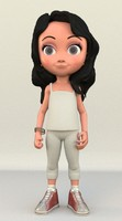 3d model stylized girl