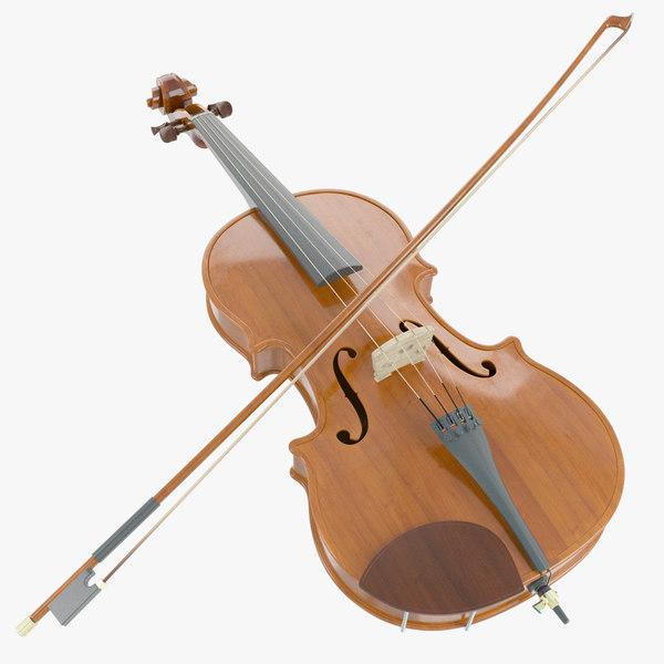 3d violin wood
