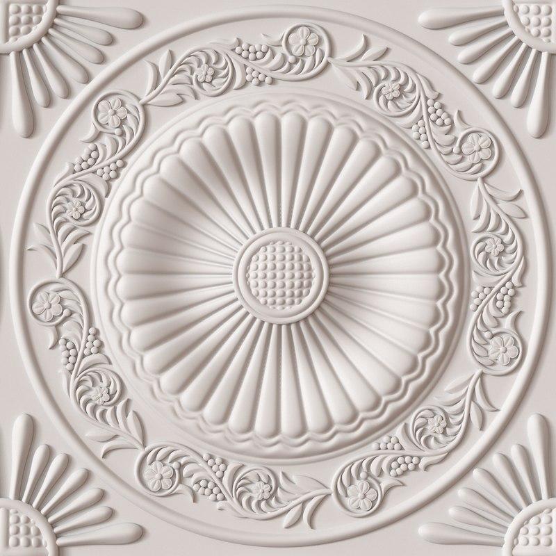 3ds max decorative ceiling tile