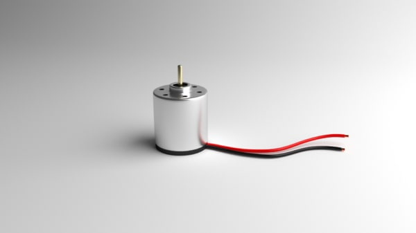 3d dc motor model