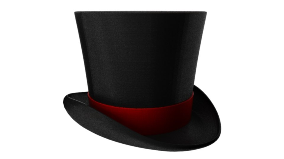 3d tophat red lining model