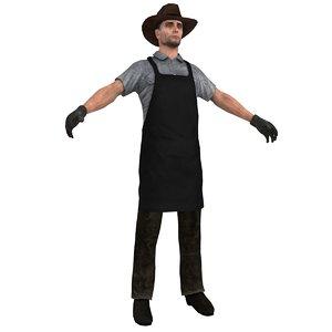 3d model wild west blacksmith