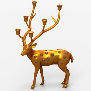 3d 3ds deer candle support