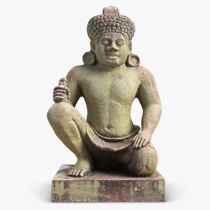 3d sculpture cambodia demon 2