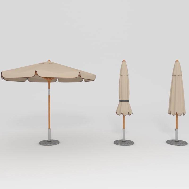 parasol umbrella 3ds