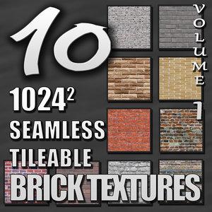 Seamless Tileable Brick Texture Pack Volume I