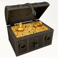 treasure chest 3d max