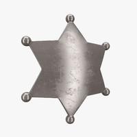 3dsmax sheriff badge