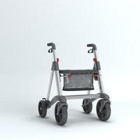 walker rollator 3d obj