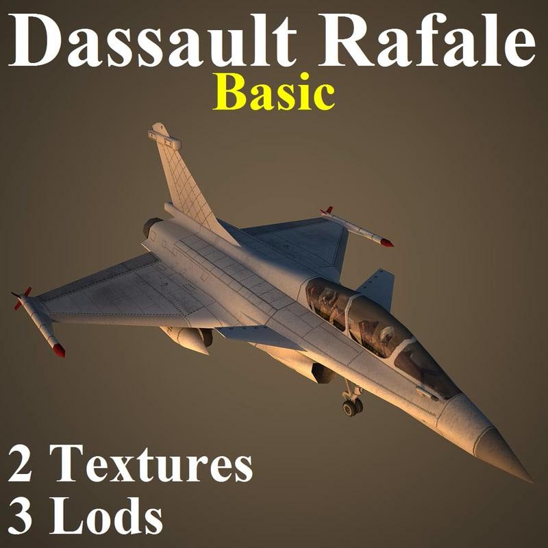 3d dassault rafale basic fighter aircraft