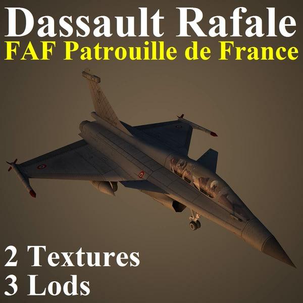 3d dassault rafale faf fighter aircraft