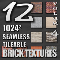 12 Seamless Tileable Brick Texture Pack