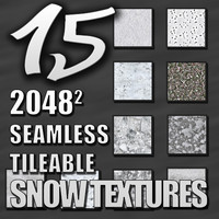 15 Seamless Tileable Snow Textures Pack