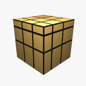 3d model mirror cube