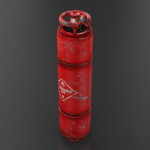gas canister 3d model