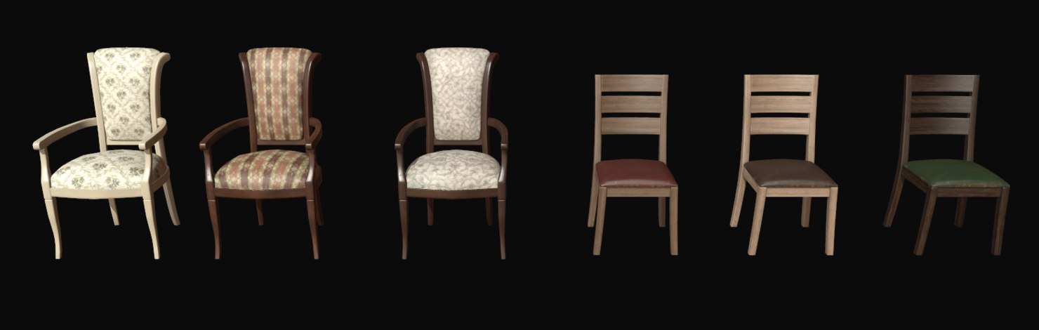 3d pbr chairs model