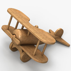 3d wooden plane toy