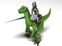 3d knight rider dinosaur