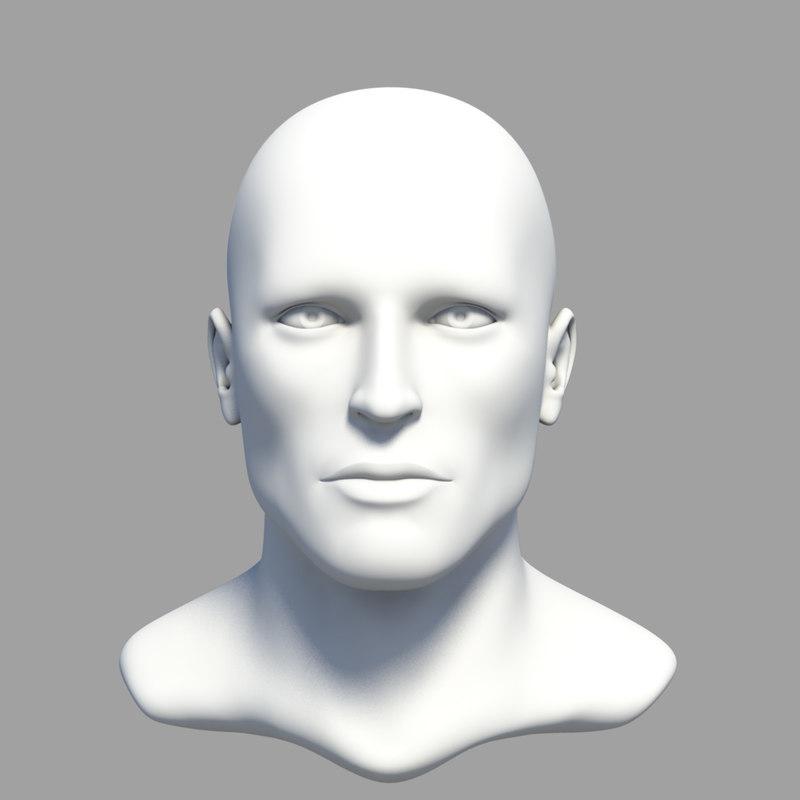 obj human male head