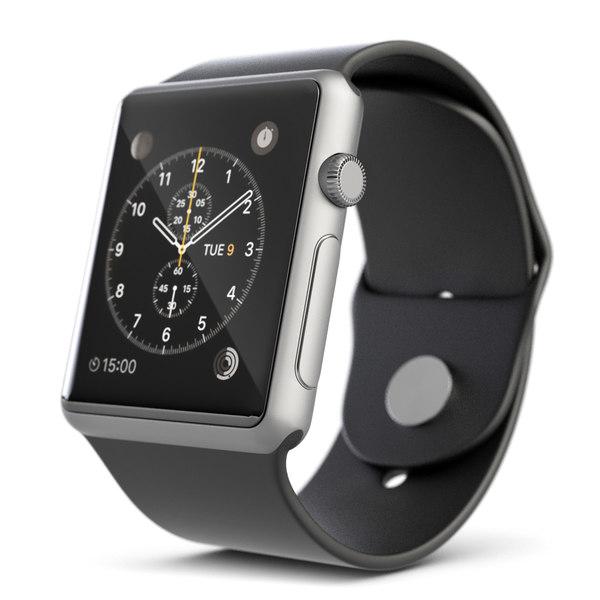 3d model digital smart watch