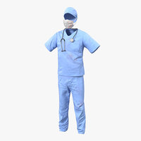 3d surgeon dress 14 blood model