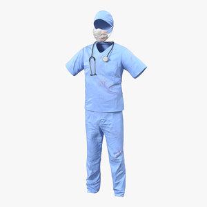 3d surgeon dress 14 blood model