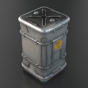 futuristic barrel 3d model