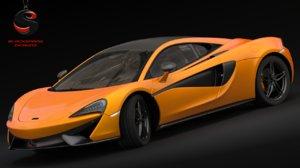 3d model of mclaren 570s 2015 car s