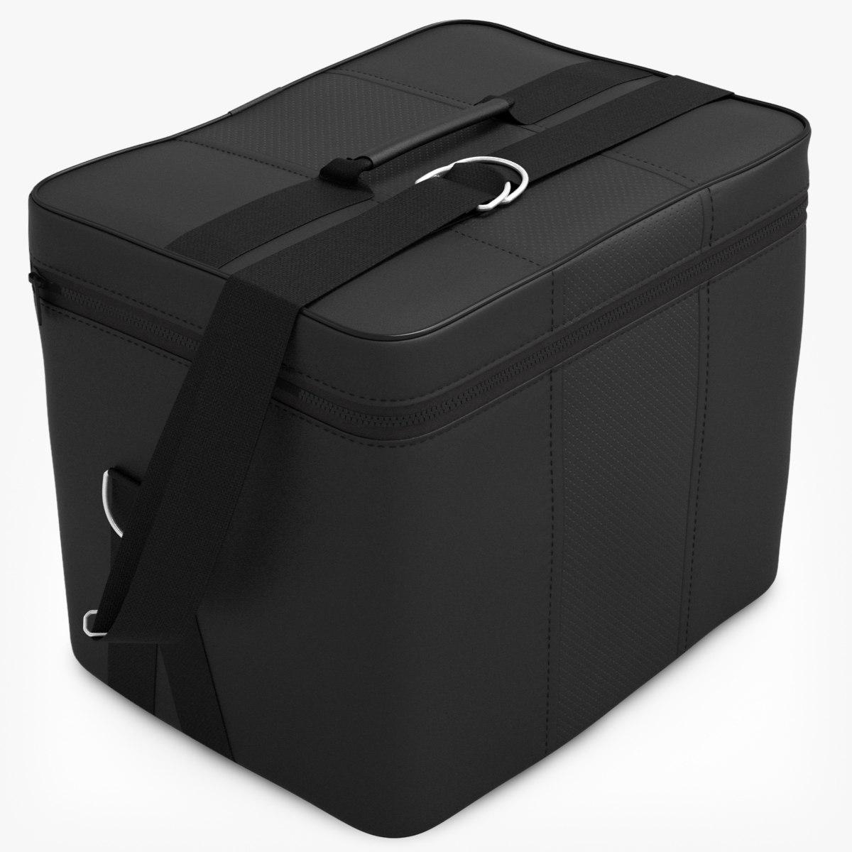 3d model leather travel bag