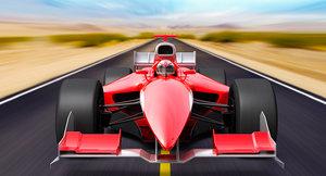 generic f1 car 3d obj