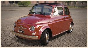 3d model fiat 500 f berlina