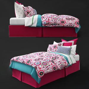 3d max bedding pillows sheet