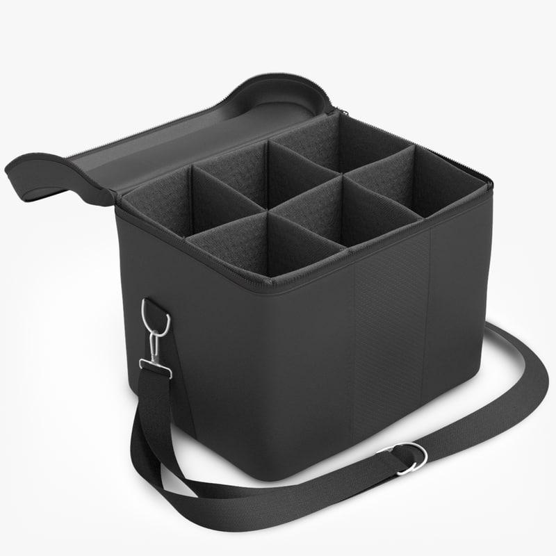 leather open bag 3d model