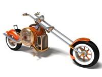 3d steampunk bike steam