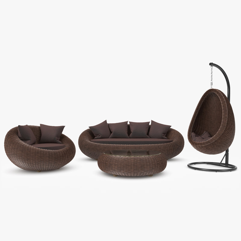 rattan furniture kiwi 3d max