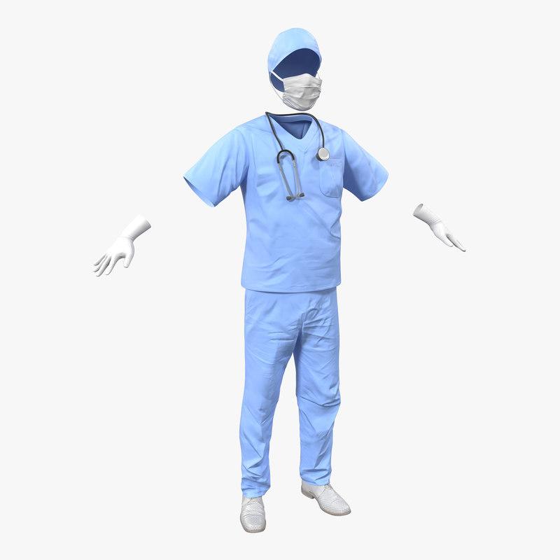 surgeon dress 13 3d 3ds