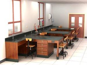 science laboratory 3d model