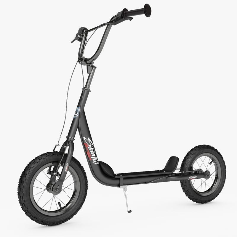 kick scooter bike novatrack 3d max